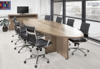 Manager ovale tafel 420x138cm